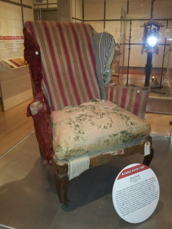 Sold to Colonial Williamsburg many years ago. This chair has seen better days but it has a history from Mount Airy and retains much original upholstery.