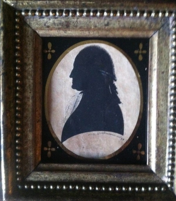 Silhouette of George Washington by Samuel Folwell. Sold to an important southern collection and featured on The Antiques Roadshow 4-6-2015. Since donated to Mt. Vernon.