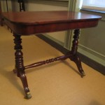 Sold to The Valentine Richmond History Center. The unusual American, possibly Southern, sofa table is now on display in the Wickham House.