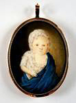 A watercolor on ivory miniature portrait of Edmund Pendleton Taylor. Attributed to William Mercer. Sold to Bloomsbury, the historic Taylor family home in Orange County.