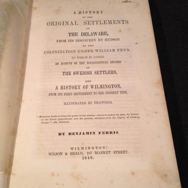 Scarce Delaware History