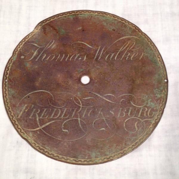 Thomas Walker, Fredericksburg Clock