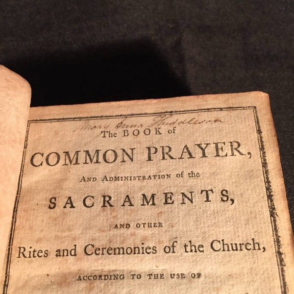 Early Episcopal Prayer Book