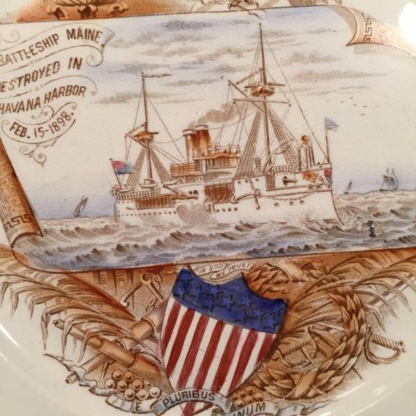 """Edwin Bennett """"Remember The Maine"""" Plate"""