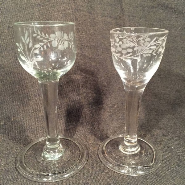English Engraved Wineglasses