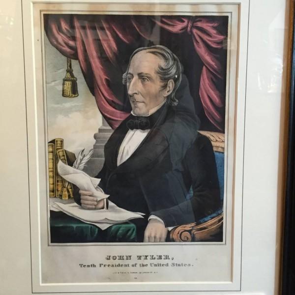 Lithograph Portrait of John Tyler