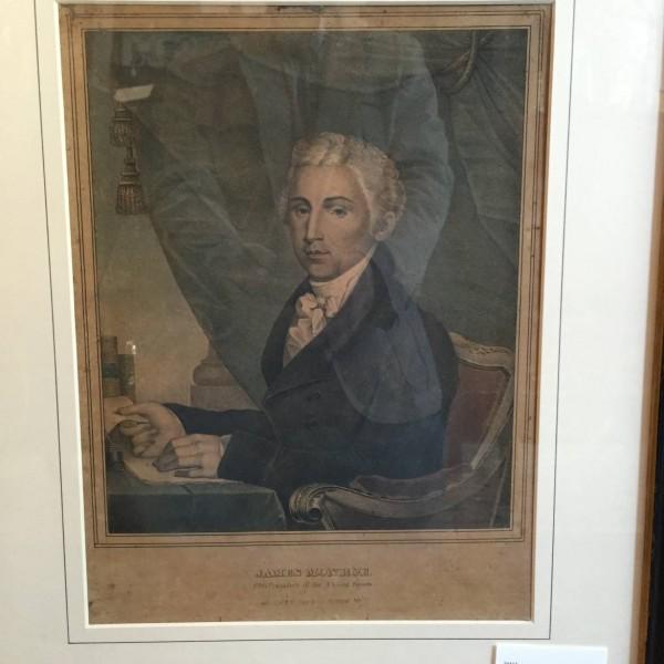 Lithograph Portrait of James Monroe