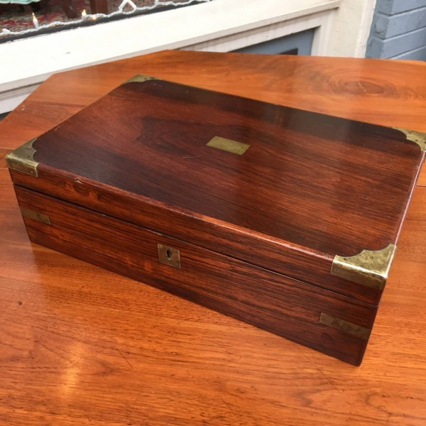 Small American Rosewood Desk Box
