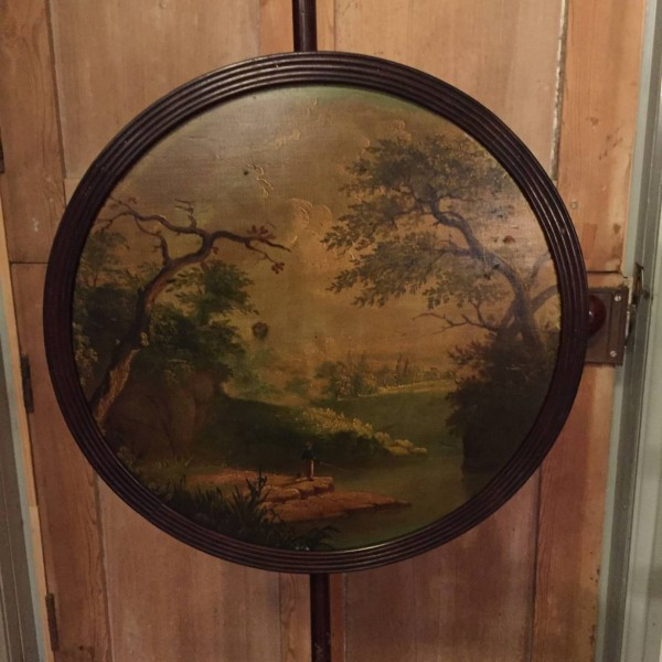 English Regency Pole Screen