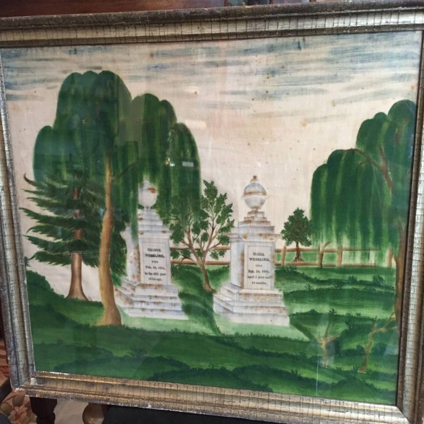 Folk Art Mourning Picture