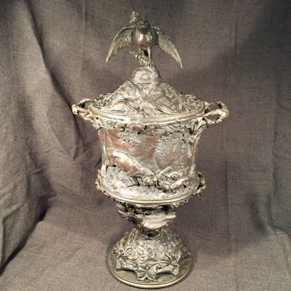 P. J. Mene, Bronze Hunting Scene Urn