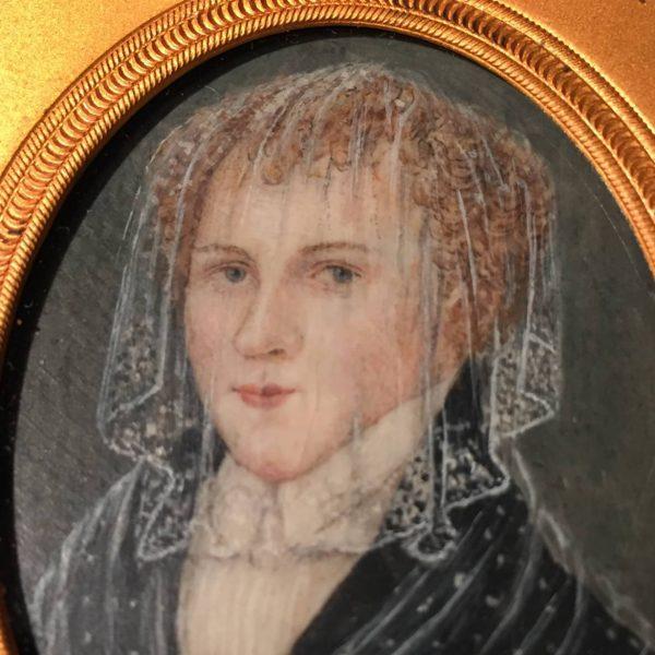Miniature Portrait of a Veiled Blond