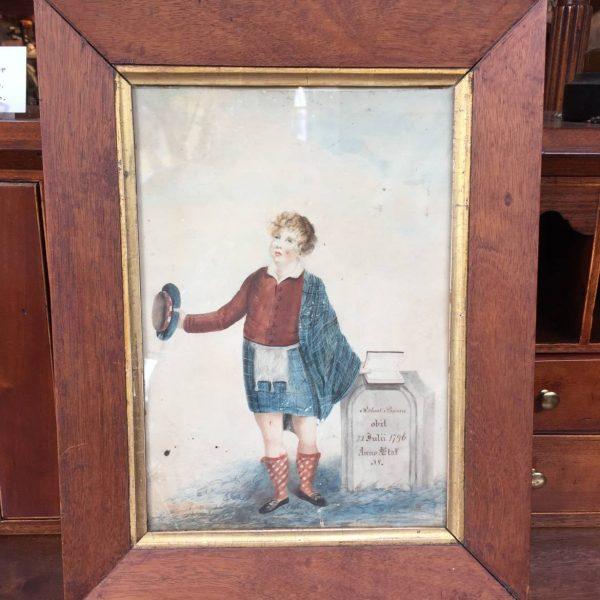 Robert Burns Memorial Watercolor