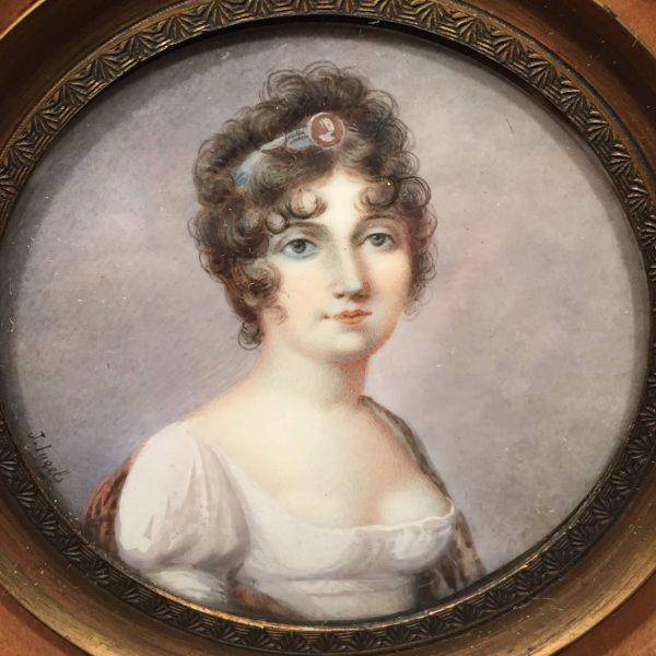 Miniature Portrait, signed J. Ingels