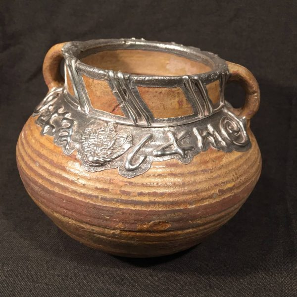 Ancient Herodian Cooking Pot with Domar Silver Rim