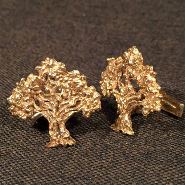 Gold Tree Cufflinks