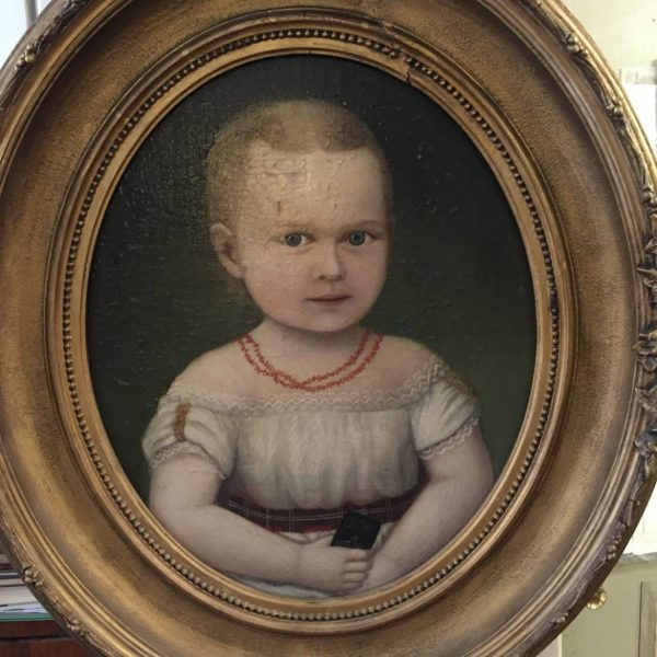 Portrait of a Young Girl With Coral Necklace