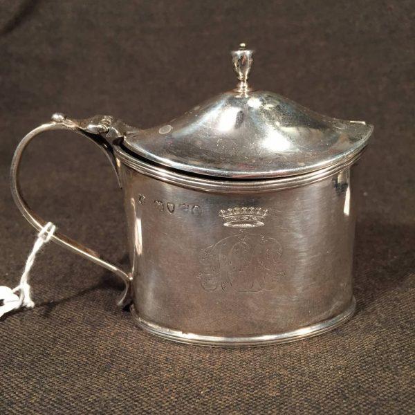 English Silver Mustard Pot