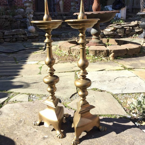Massive Early Flemish Candlesticks