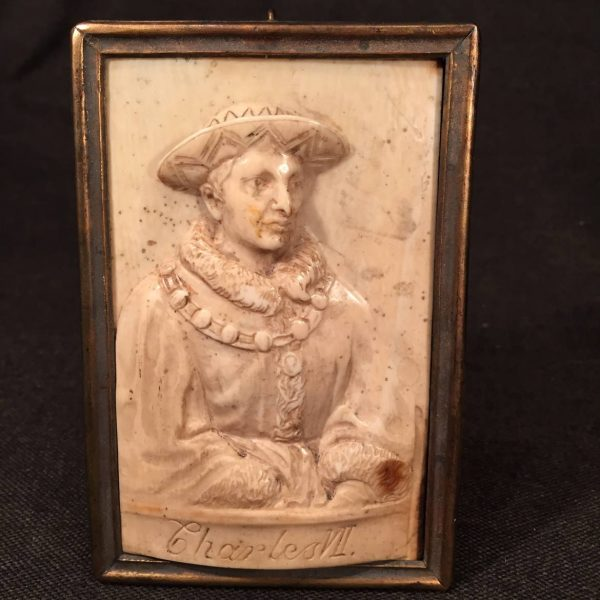 Charles VII, Carved Ivory Portrait