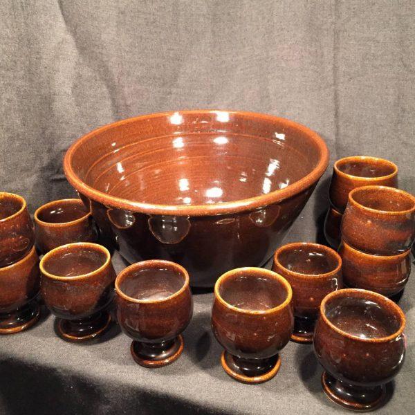 Jugtown, North Carolina Pottery Punch Set