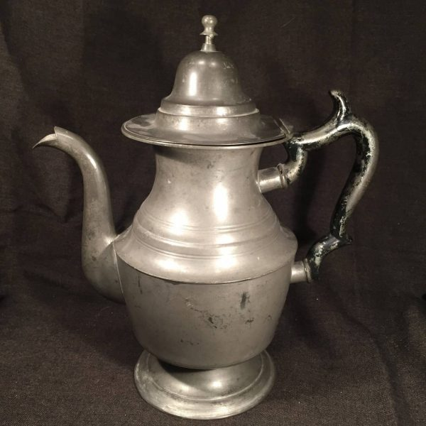 Rufus Dunham, Westbrook, Maine Pewter Coffee Pot