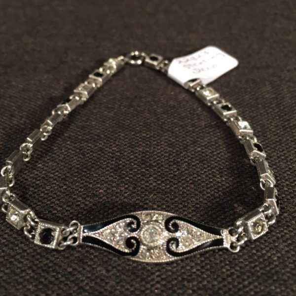 Art Deco Sterling Link Bracelet