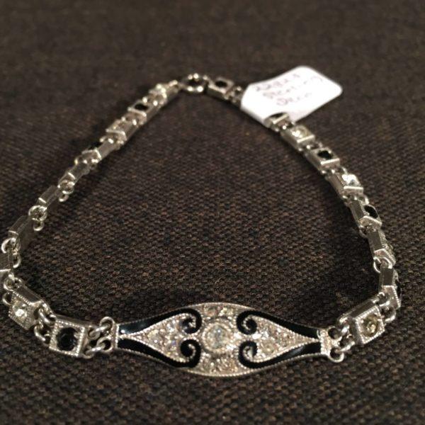 Art Deco Sterling Link Bracelet
