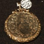 image of Diamond Mounted Miniature Portrait Set in 14k Gold