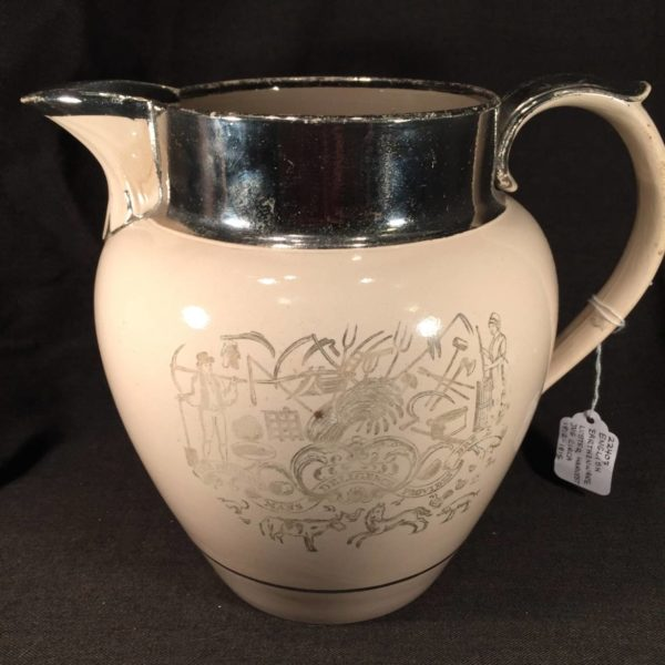 English Creamware Harvest Jug