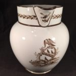 image of English Pearlware Jug with Applied Moulded Decoration