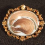 image of Antique Hair and Gold Ring Size 8