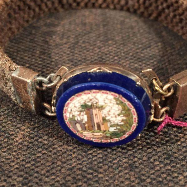 Rare Micromosaic and Hair Bracelet