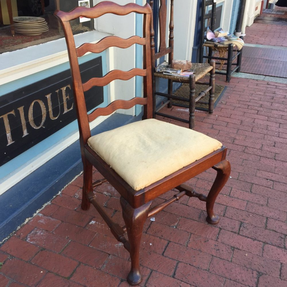 New England Transitional Queen Anne/Chippendale Chair