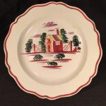 image of King's Rose Creamware Dinner Plate
