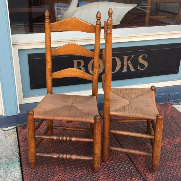 Four Frederick Maryland Ladderback Chairs