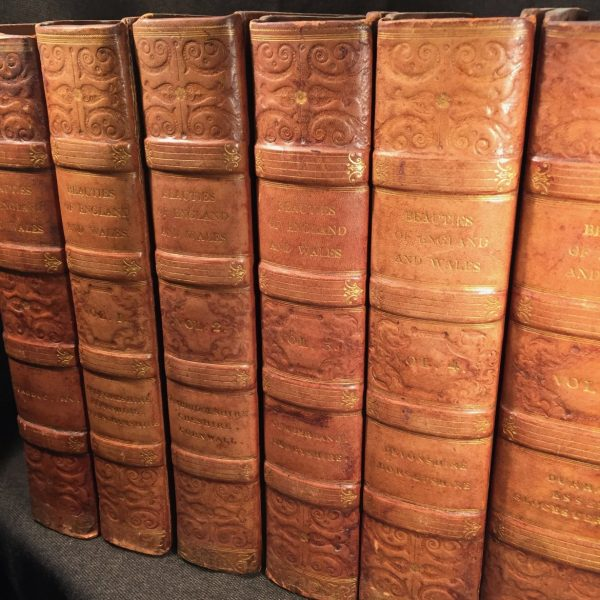 Beauties of England and Wales, 19 volumes bound as 26 books, 1801-1818