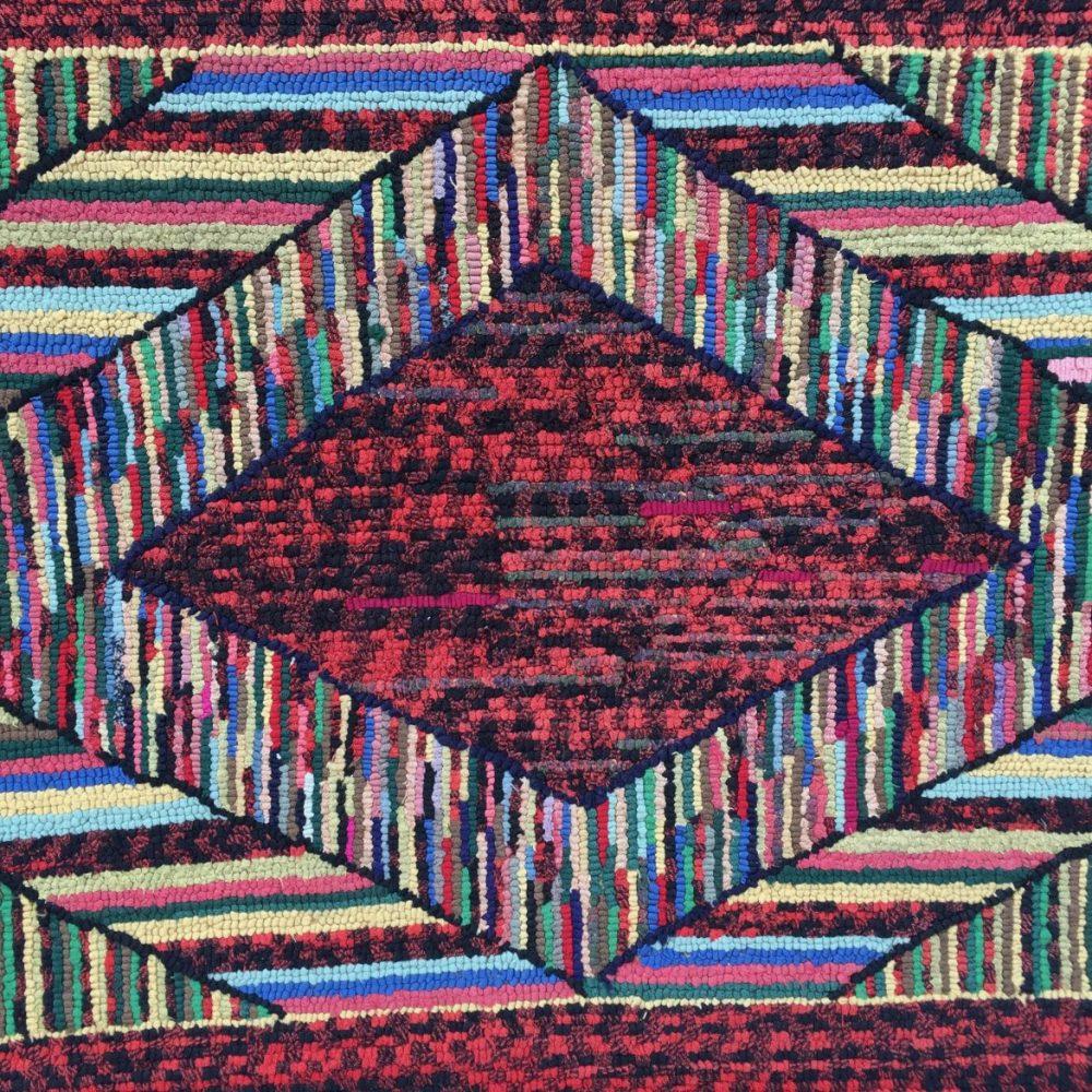 Geometric Hooked Rug, probably Amish