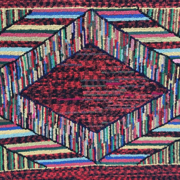 Geometric Hooked Rug, probably Amish