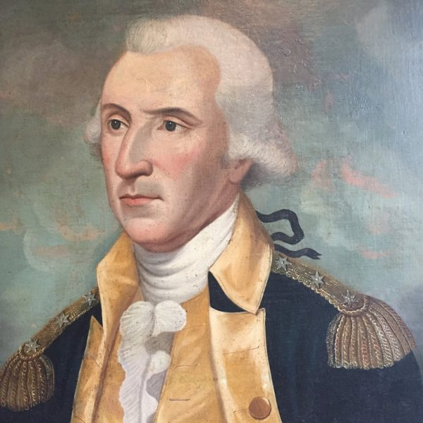 This early portrait of Washington was published in 1931 with the caption that it was said to have been painted for William Paca. Now in an important local collection.