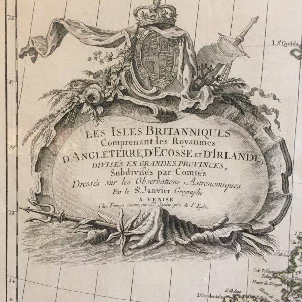 18th Century Map of the British Isles