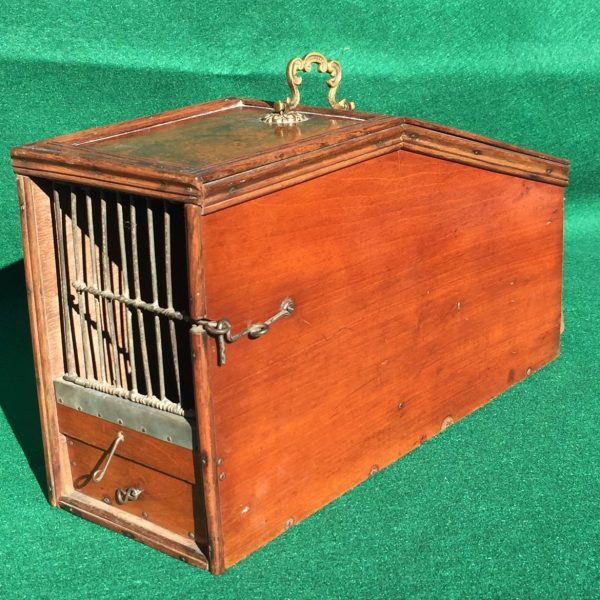 English Mahogany Homing Pigeon Carrier