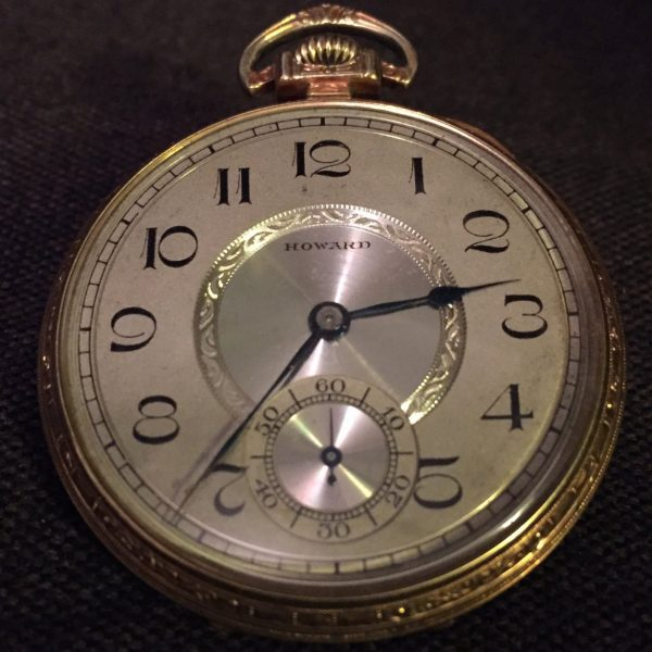 E. Howard Gold Filled Open Face Pocket Watch