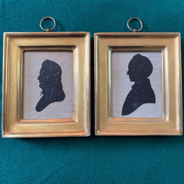 Gov. Joseph Maull of Delaware and His Wife, Silhouettes