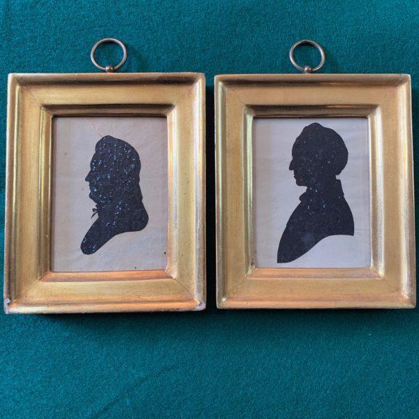 Gov. Joseph Maull of Delaware and His Wife, Silhouettes
