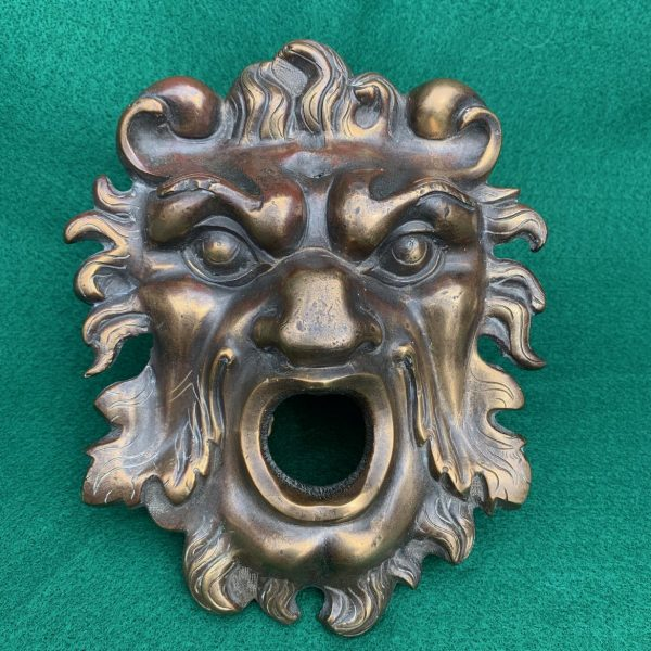 Bronze Lion Mask Door Knocker Back Plate