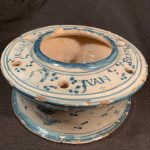 image of French Faience and Gilt Bronze Inkwell