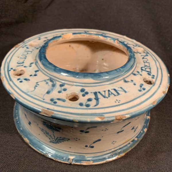 Spanish Talavera Potter Inkwell, Juan Gomez
