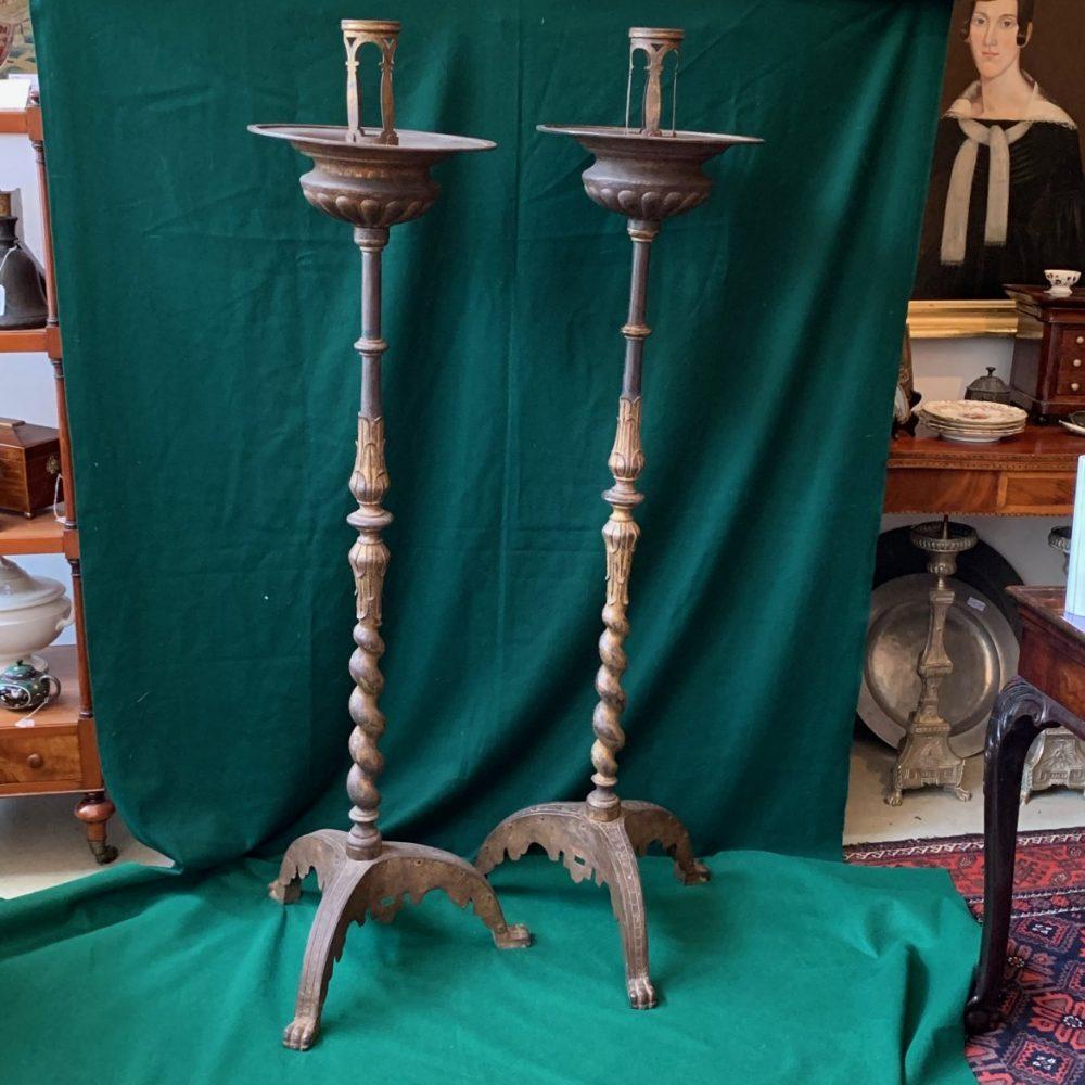 Spanish Iron Torcheres