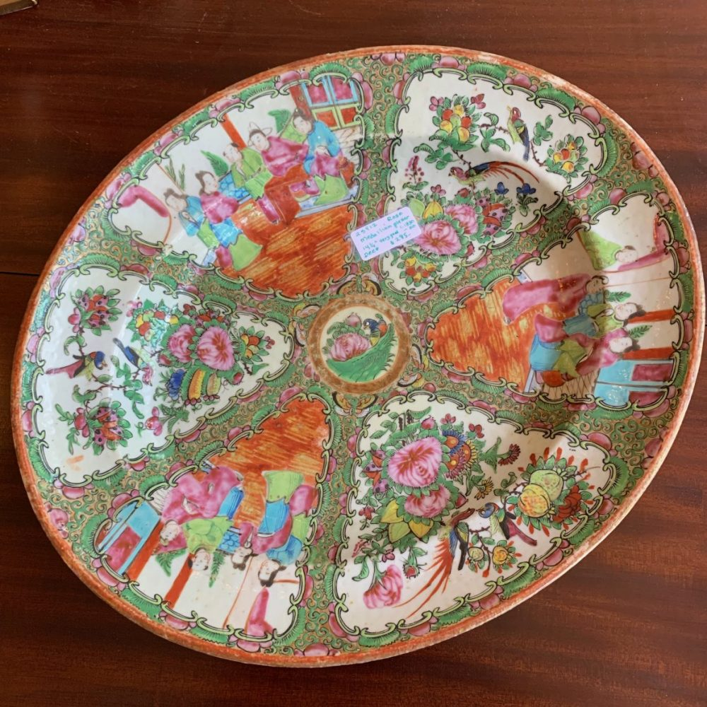 Rose Medallion Deep Platter